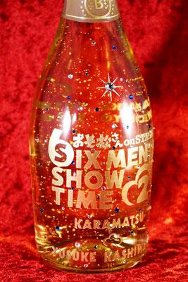 オリジナル ボトル 酒 ワイン シャンパン マグナム ギフト ロゴ 写真 サプライズ オーダー 記念品 ノベルティ プレゼント スワロフスキー モエ 金箔