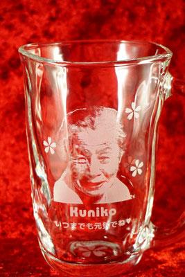 ジョッキ 写真 ロゴ グラス 記念品 ノベルティ 名入れ グラス  ノベルティ 製作 格安 オリジナル 販促 名前 東京 オリジナル オーダー