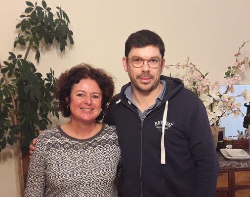 Fabien Gorgeart avec Anne à La Parenthèse, chambres d'hôtes à La Réole