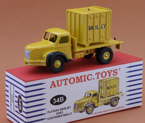 Camion Berliet GLC plateau container Bailly Dinky Toys N°34