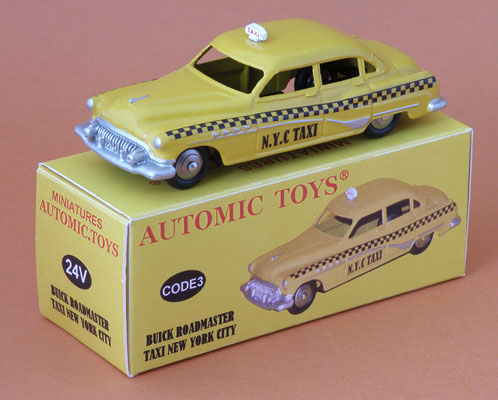 Buick Roadmaster berline Taxi USA  jaune  Dinky Toys ref: 24V