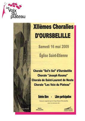 concert XIIème Choralies 2009 Oursbelille