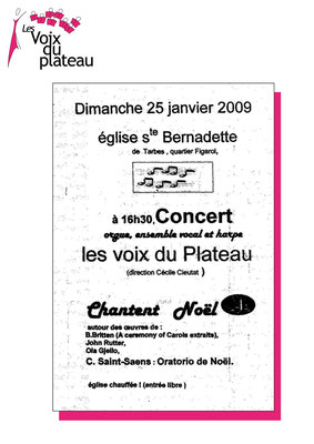 concert Noël 2009 Tarbes