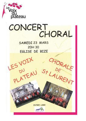concert choral 2013 Bize