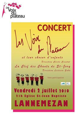 concert d'été 2010 Lannemezan