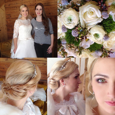 Hair & Make up: Hairlounge Lenzerheide Flowers: Carole Eugster Floristik
