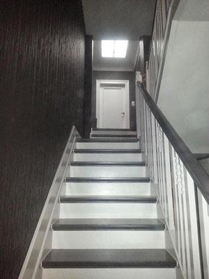 Rénovation Escalier noir et blanc