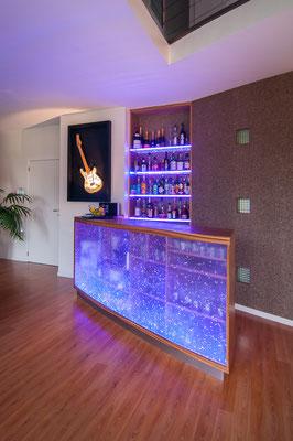 Réalisation comptoir - bar design - Liège