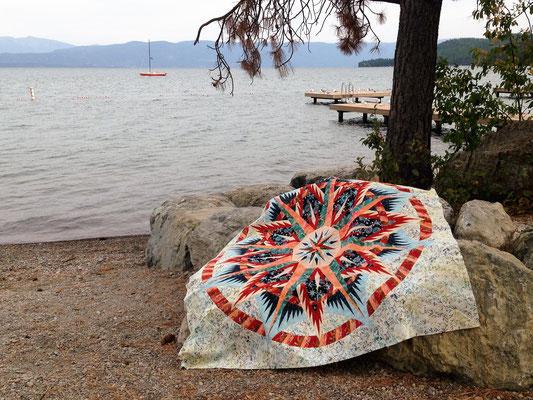 Mariner's Compass - Bernhild Schröder- 2015,  Anleitung von Judy Niemeyer, Quiltworx