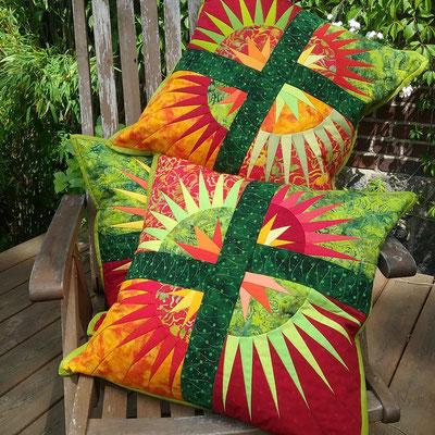 Desert Sunset Pillows - Bernhild Schröder 2016, Anleitung von Judy Niemeyer, Quiltworx
