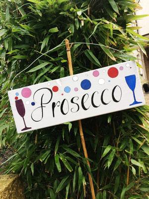 """Das Schild mit der Aufschrift """"Prosecco"""""""