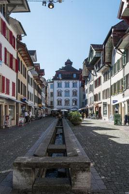 Vereinsreise 2020 mit Stadtführung in Aarau. Die Stadt der schönen Giebel.
