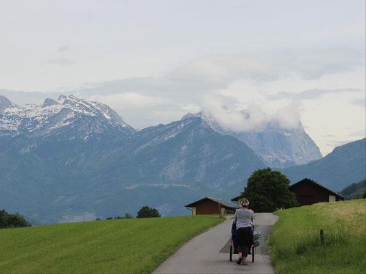 Den Schneebergen entgegen