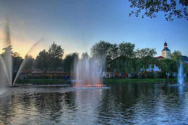 Einmalig, die Wasserspiele zum Pichelsteinerfest!