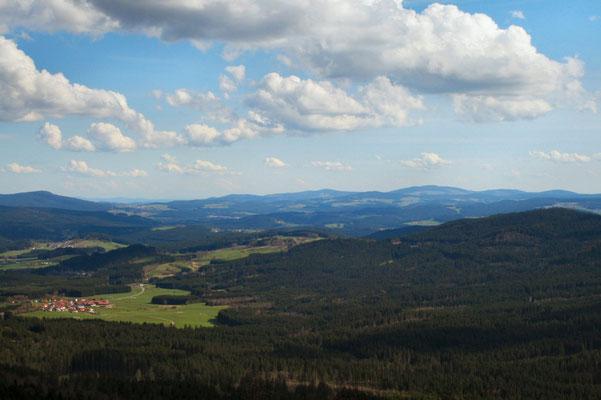 Ausblick vom Silberberg/Bodenmais