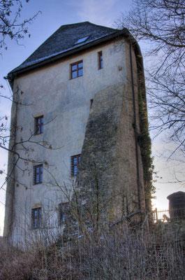 """Das """"fressende Haus"""", einst Wohnturm des Dichters Siegfried von Vegesack"""