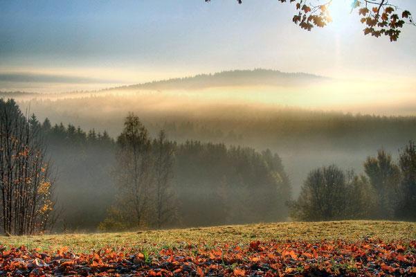 Herbstmorgen bei Schweinhütt