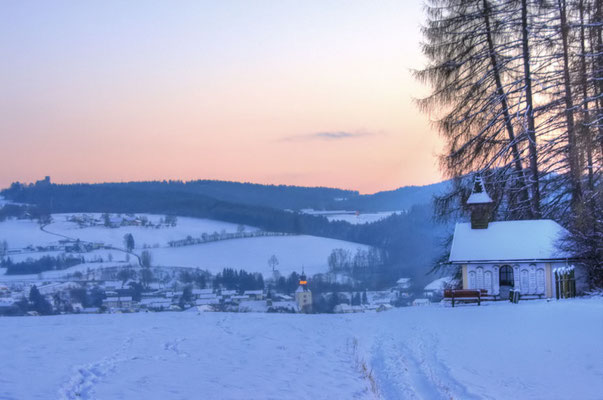 Der Blick vom Kalvarienberg