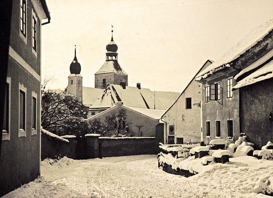 Winterimpressionen hier Bodenmaiserstrasse zur Kirche