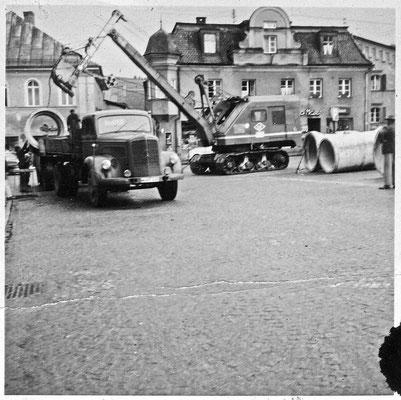 Kanalarbeiten am Stadtplatz