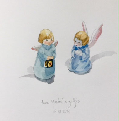 Annette Fienieg: 2 'Goebel' angels, 15-12-2020