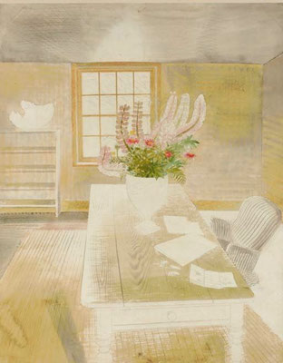 Eric Ravilious: Garden flowers on the cottage table