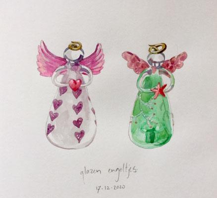 Annette Fienieg: 2 glass angels, 16-12-2020
