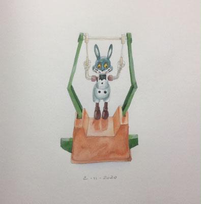 Annette Fienieg: Acrobatic bunny, 2-11-2020