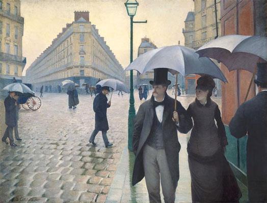 Gustave Caillebotte: regenachtige dag in Parijs