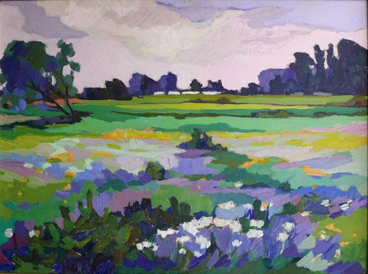Kees Bol: Meadow landscape