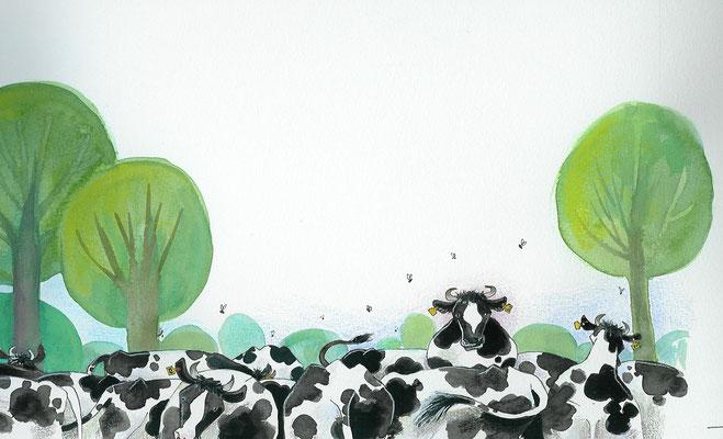 Annette Fienieg, uit:  Toen kwam een vogel