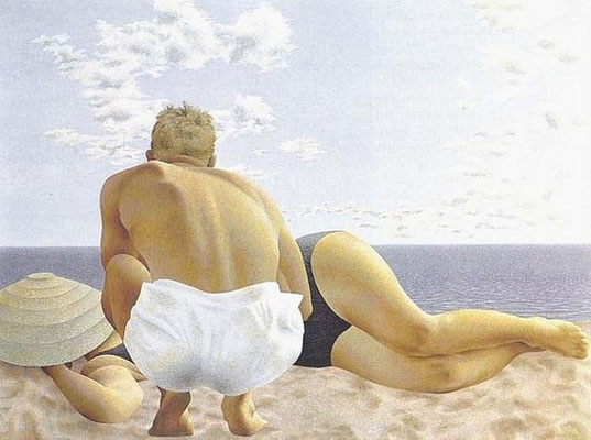 Alex Colville: Couple on the beach