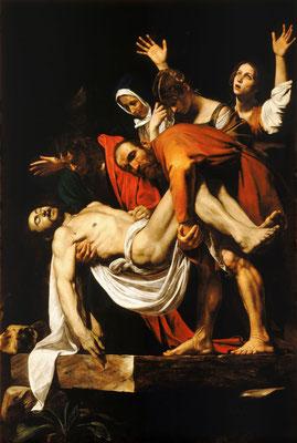 Caravaggio: De graflegging van Christus