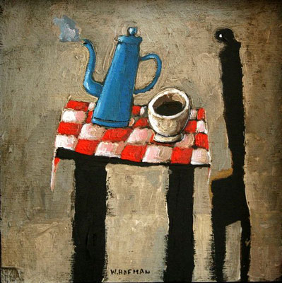 Wim Hofman: steaming coffee pot
