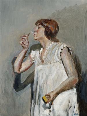 Christian Krogh: Vrouw mat cigaret