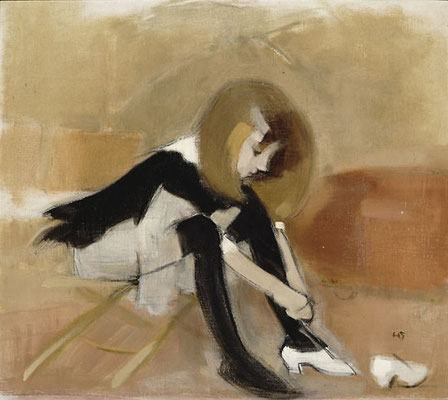 Helene Schjerfbeck: Dancing shoes, 19..?