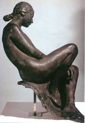 Giacomo Manzù: Nude, seated