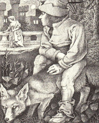 Maurice Sendak:  illustration for a story by the brothers Grimm