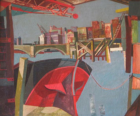 John Minton: Bridge from Canon Streeet Station