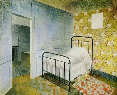 Eric Ravilious: het bed