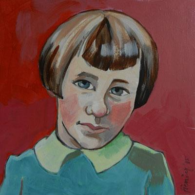 Meisje 3, acryl op mdf 2015