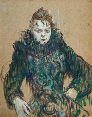 Henri de Toulouse-Lautrec: Vrouw met zwarte boa
