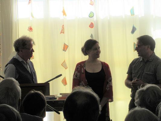 en Borgdorff in gesprek met Ellen Deckwitz en Edward v d Vendel
