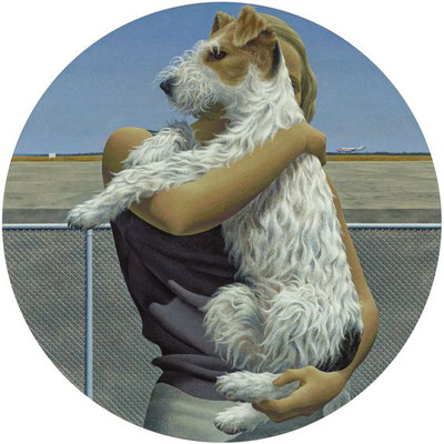 Alex Colville: Woman and terrier