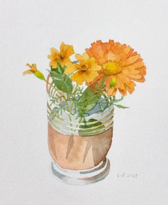 Annette Fienieg: Marigolds, 2-6-2021