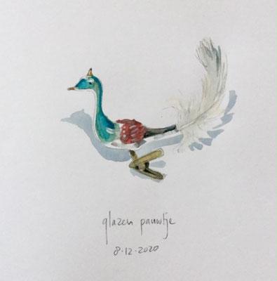 Annette Fienieg: Antieke glazen pauw, 8-12-2020