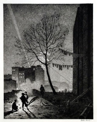 Martin Lewis: Tree, Manhattan