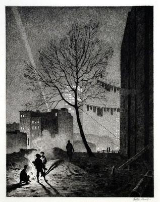 Martin Lewis: Tree, Manhattan