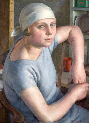 Dod Procter: Girl in blue