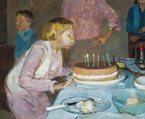 Ruskin Spear: Birthday party